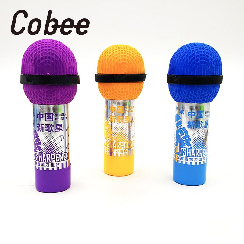 Soft Rubber Random Color Drawing Office TPR Eraser Microphone Shaped Clean 2 Inch 1 Students Pencil Eraser Stationery