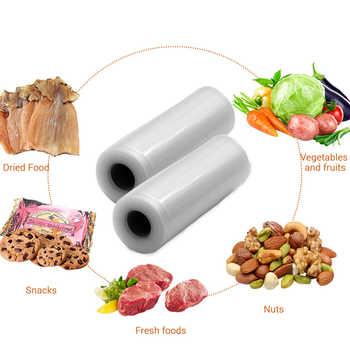 TUANSING Vacuum Food Sealers 220V/110V Automatic Vacuum Sealing Machine and 2 Rolls bags (12/15/20/25/28cm food storage bags)
