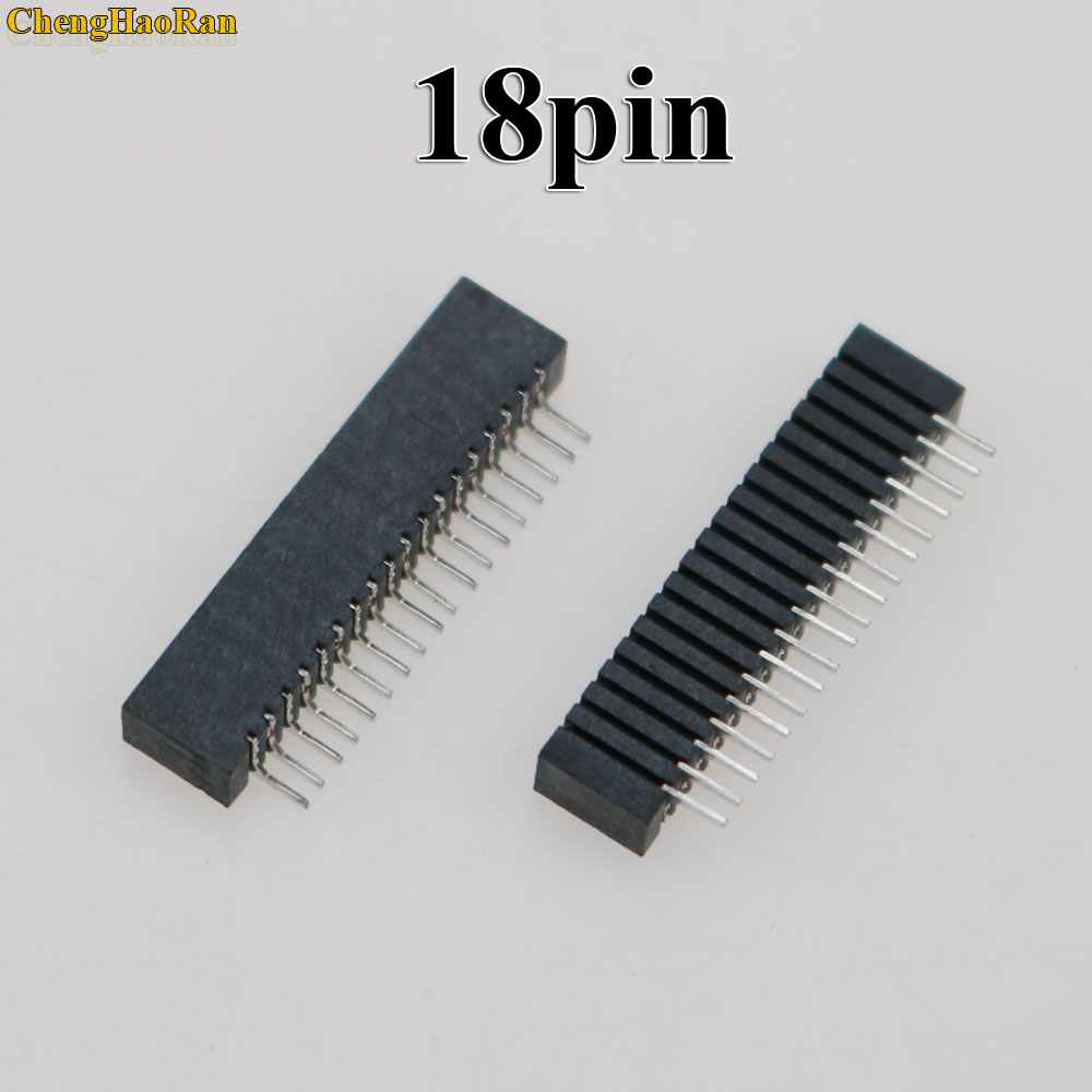 Image 2 - ChengHaoRan 100pcs Flex Ribbon Cable Connect Port Conductive Film Socket 18pin Connector For Playstation 2 PS2-in Replacement Parts & Accessories from Consumer Electronics