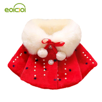 EOICIOI Autumn Winter Cotton Girls Jacket Coats Children Thicken Plush Warm Parkas Outerwear Baby Girls Clothes