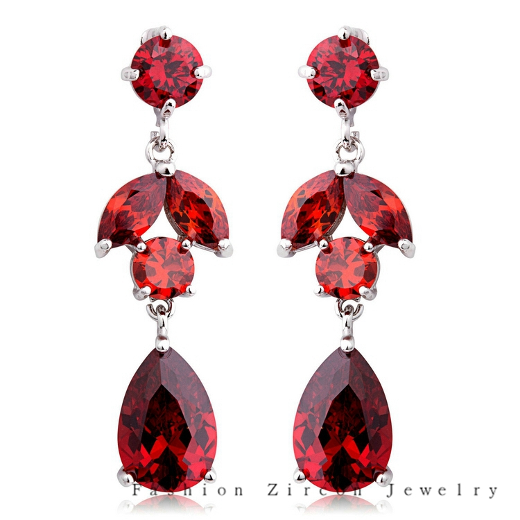 New Aaa Zircon Fashion Ruby Chandelier Earrings High Quality 18k Gold Plated Crystal 2017 Fe42 In Drop From Jewelry Accessories