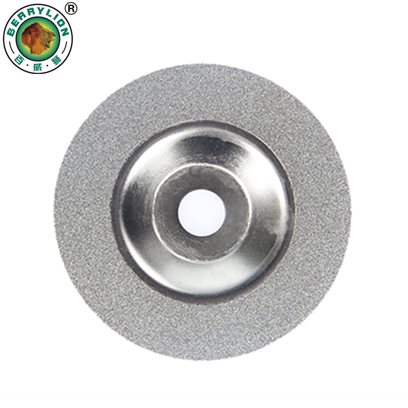 BERRYLION 100mm Diamond Grinding Disc Glass Cuttering Saw Blade Electroplated  Disc Grain For Granite Marble Abrasive Tools