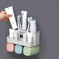 Главная Ванная комната Зубная щётка стойка для зубных паст органайзер и соковыжималки пластиковая стойка для хранения набор автоматически...