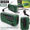 Degen de13 fm am sw crank dynamo de emergência de energia solar rádio mundial receiver tecsun pl-310et de alta qualidade vs vs panda 6200