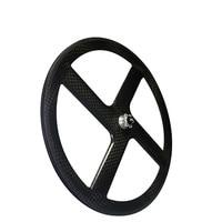 Carbon 4 Spokes Road/Track Factory Wheels 700C Track/Road Bike Aero 4 Spokes Rear Wheel for Road / Fixed