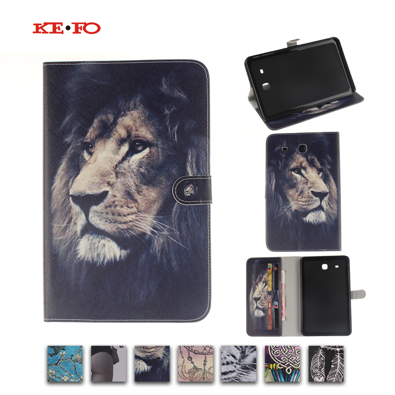 Colorful Magnetic PU Leather Case Cover For Samsung Galaxy Tab E 9.6 T560 SM-T560 T561 Tablet Stand with Card Holder T560 Cover yh printed flip stand skull cute owi leopard pu leather cover case for samsung galaxy tab e 9 6 inch tablet t560 t561 sm t560