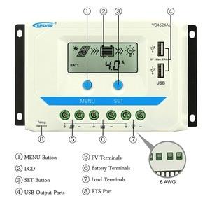 Image 3 - Epever 10A 20A 30A 45A 60A Solar Charge Controller Controlador De Carga 12V 24V Auto Pwm Solar Rregulators vs Serie Hot Koop
