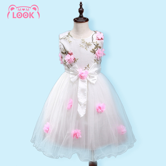 4bb1c826a040 Hot Sale Summer Flower Girls Dresses Party Wedding Embroidery ...