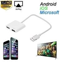 Vovotrade USB À HDMI HDTV HD Miroir Adaptateur Câble Convertisseur Cordon Pour iPhone 7 7 Plus Drop Shipping