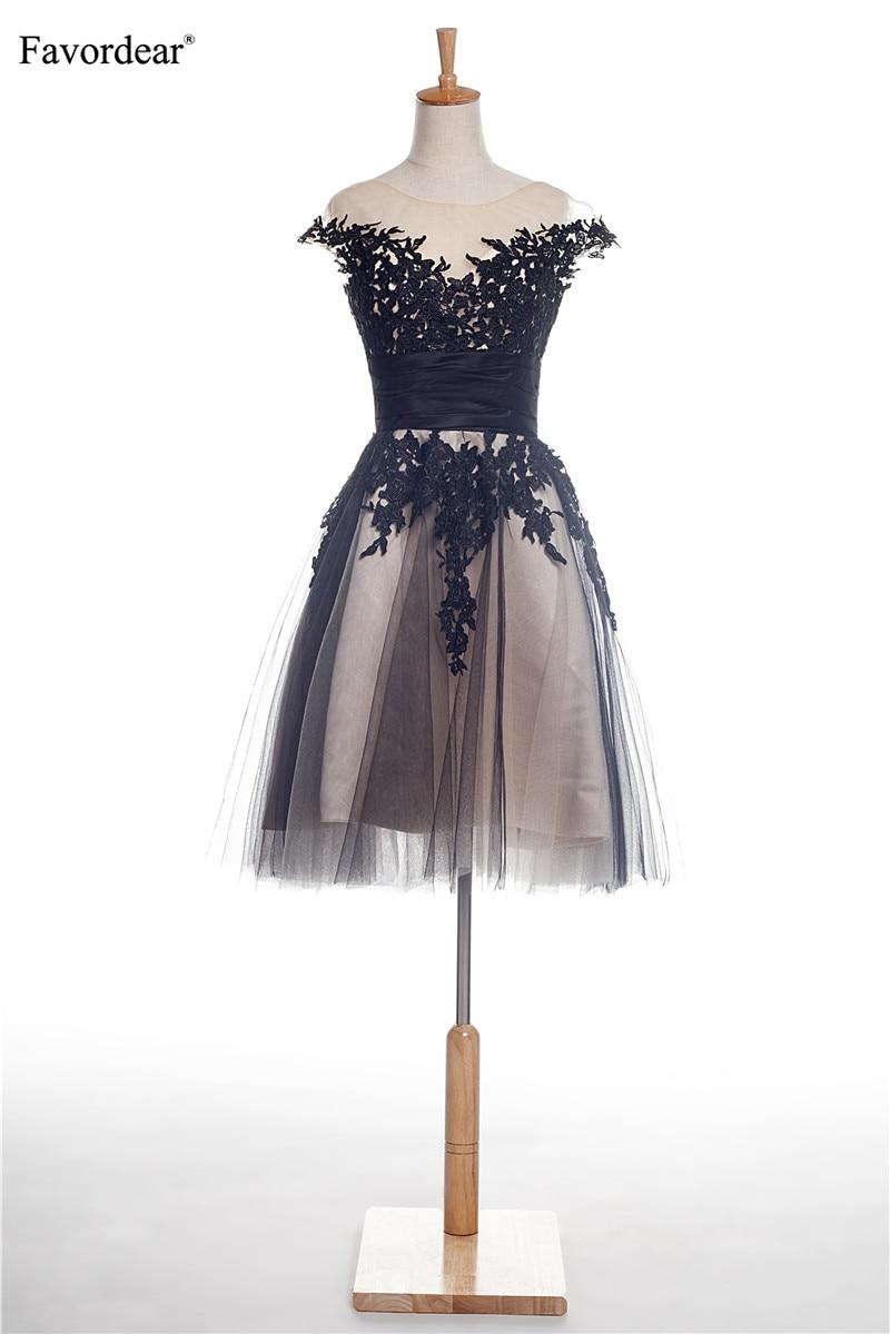 Favordear Applique Lace Formal   Dress   Taffeta Ruched Waist Individuality   Cocktail     Dresses   2018 vestidos cortos para fiesta