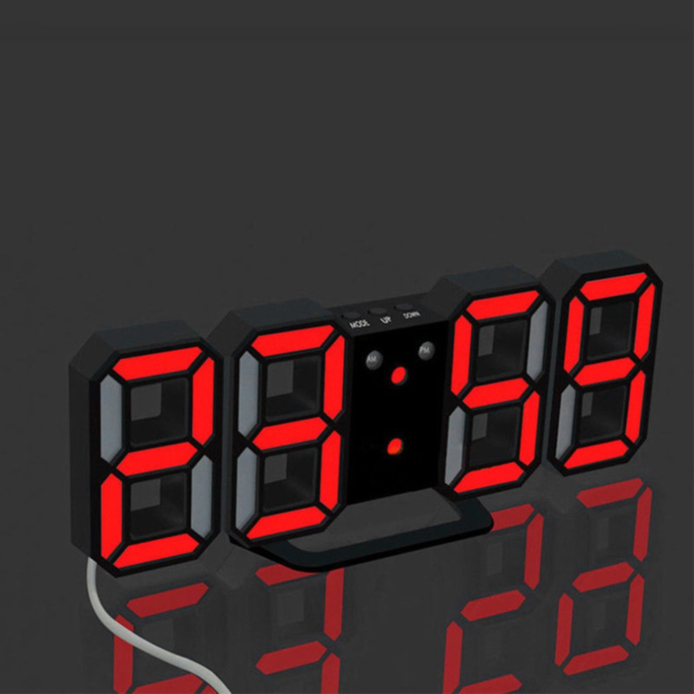 LED Digital Electronic Alarm Clock digital table desk coulocks floor bathroom office decoration desk chinese home clock office