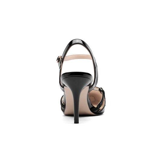 Cuir Talons 9 L'intention Noir Taille Mince Pointu Chaussures Nouveau ef11393 Sandales Femme Femmes Vache En Bout ef11392 Style Initiale Blanc 3 Nu Ef11391 Us qq4CwR0P