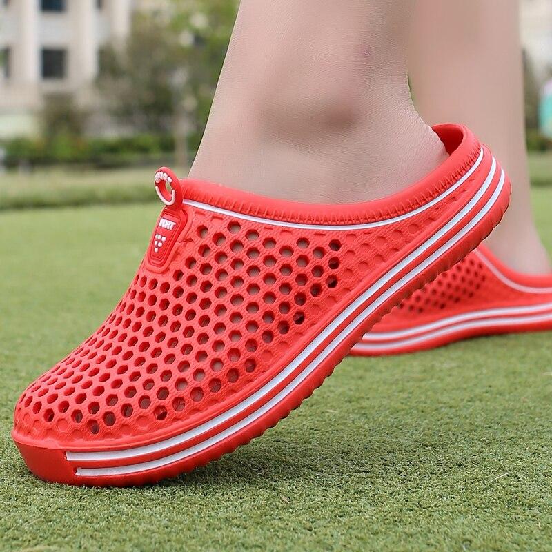 2018 Couple outdoor Sandals Eva Clogs Shoes mens Croc Summer Sandalias Lover Black White Beach Garden women Nest shoes