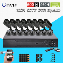 TEATE 16 Channel 600TVL video Surveillance security Camera system h.264 DVR Recorder 16ch CCTV dvr kit for surveillance CK-168