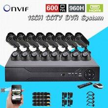TEATE 16 Channel 600TVL video Surveillance security Camera system h.264 DVR Recorder 16ch CCTV dvr kit for surveillance CK-168