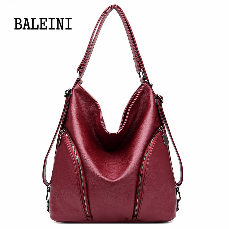 Image 2 - Genuine Leather Handbags Big Women Bag High Quality Casual Female