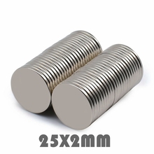 5/10/20pcs Neodymium Magnet Disc 25x2mm N35 Small Round Super Strong Powerful Magnetic Magnets For Craft Permanent NdFeB Sheet