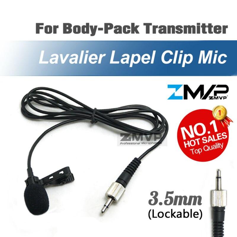 Profesional Lavalier solapa Clip condensador cardioide micrófono para Sennheiser inalámbrico transmisor BodyPack 3,5mm bloqueable