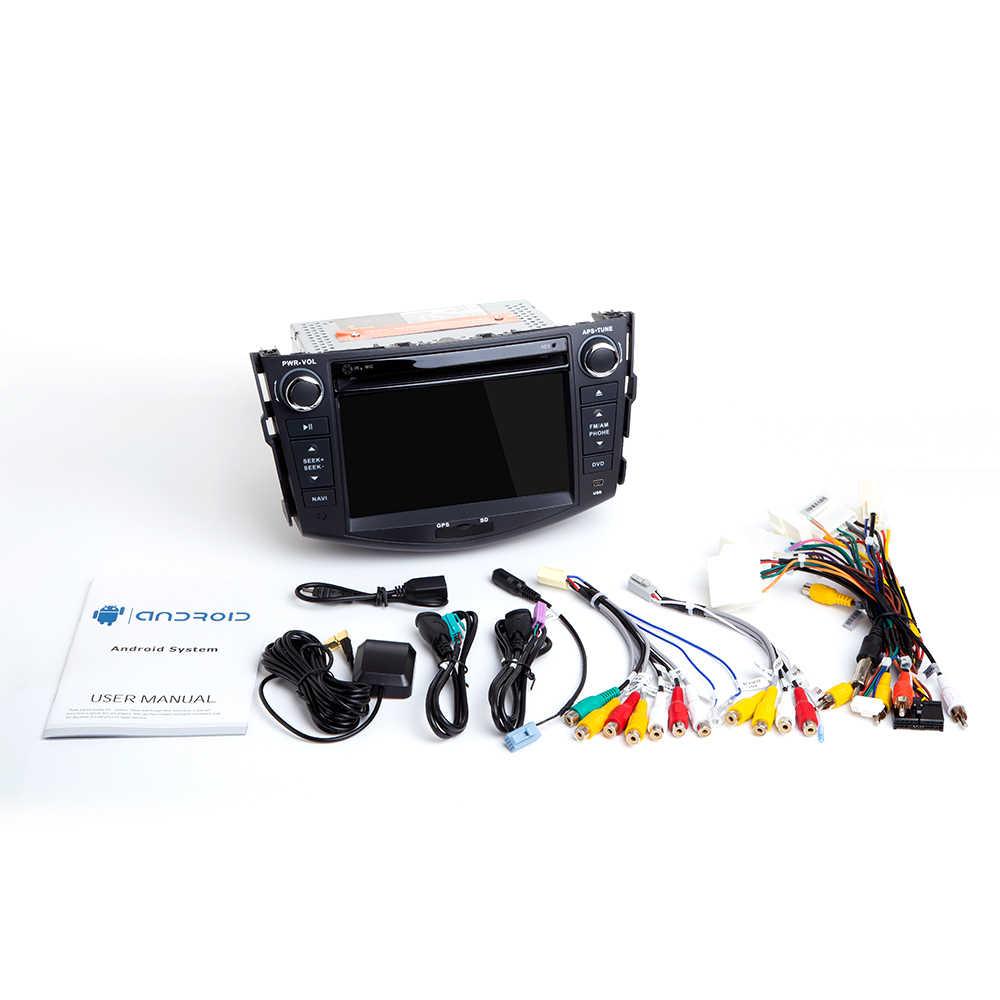Android 10 2 din Car Radio reproductor de DVD del coche para Toyota RAV4 Rav 4 2006, 2007, 2008, 2009, 2010, 2011, 2012 navegación GPS Wifi OBD2 TV