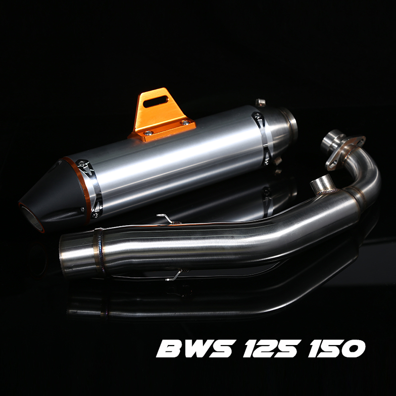 Motorcycle Exhaust middle pipe Muffler link pipe middle section adapter pipe for Yamaha BWS 125 150 ZUMA125 YW125 cygnus x SMAX free shipping motorcycle exhaust pipe for yamaha 2016 nmax155 nmax 125 muffler