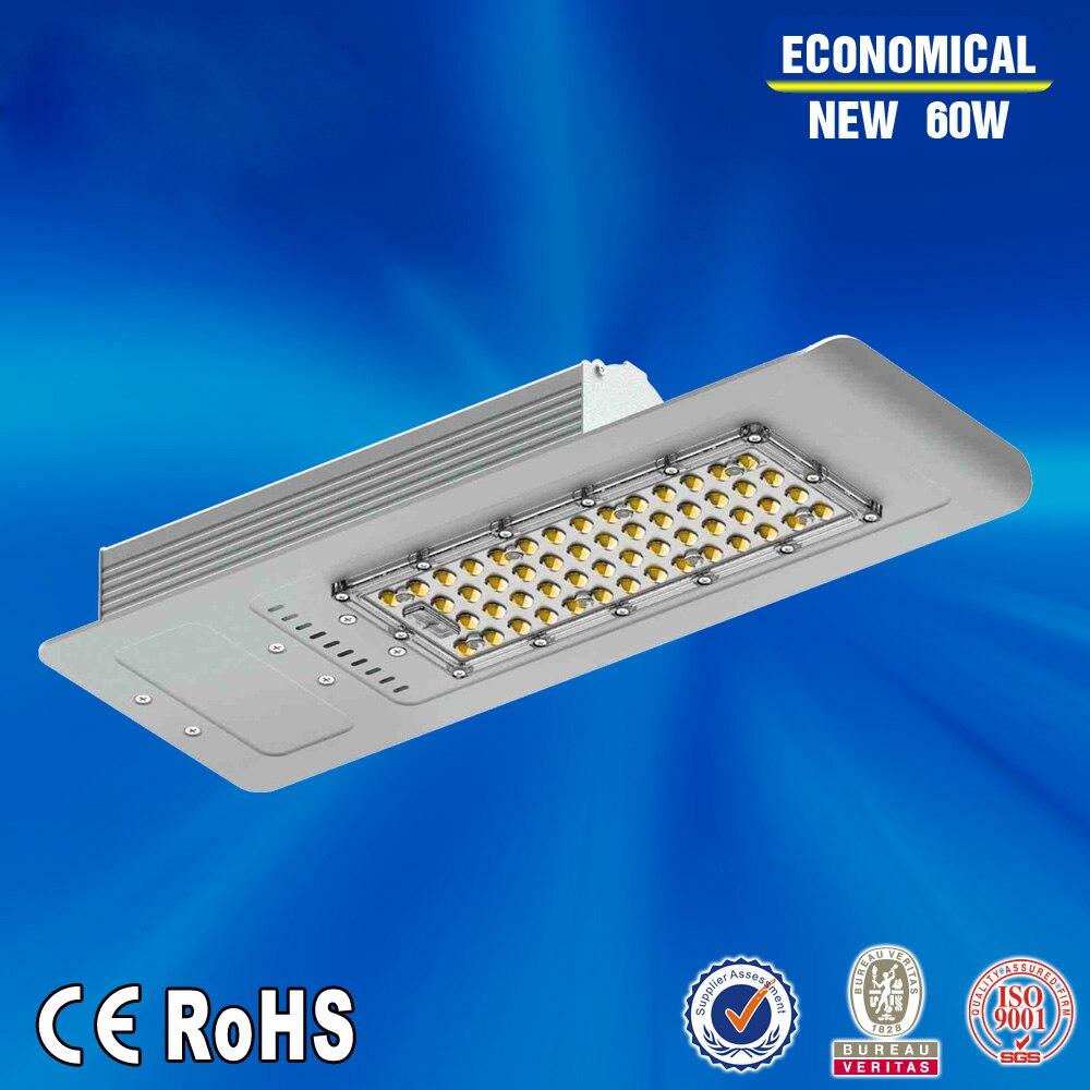 De înaltă calitate, 60W AC85-277V LED lumina stradă iluminat reglabil stradă meanwell șofer dimensiune gaură 60mm DHL transport gratuit