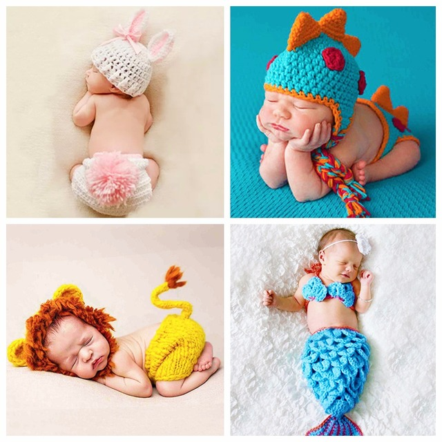 Fashion Newborn baby hand made Kid Hat Photography Props crochet Cap Girl Boy Costume Cute Playsuit Clothes Knitting Accessories
