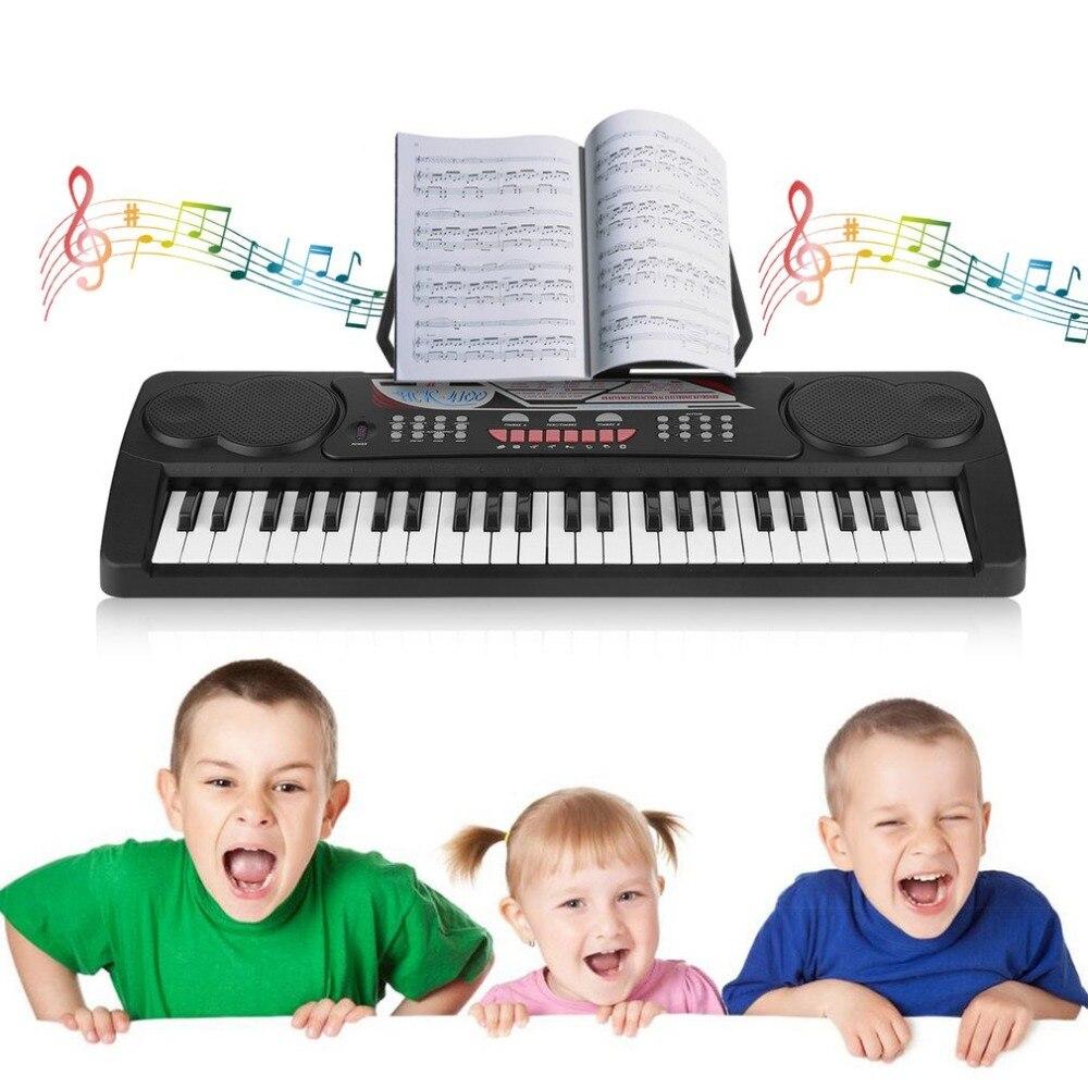 TSAI 49 clés enfants Version anglaise Instrument de musique Portable orgue électronique Piano accessoires éducation jouet livraison gratuite