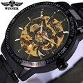 2016 Novo Relógio Homens Esqueleto Relógio Automático Vencedor Marca de Luxo Militar Relógio Mecânico Relogio Masculino Relojes Montre Relógio Dos Homens