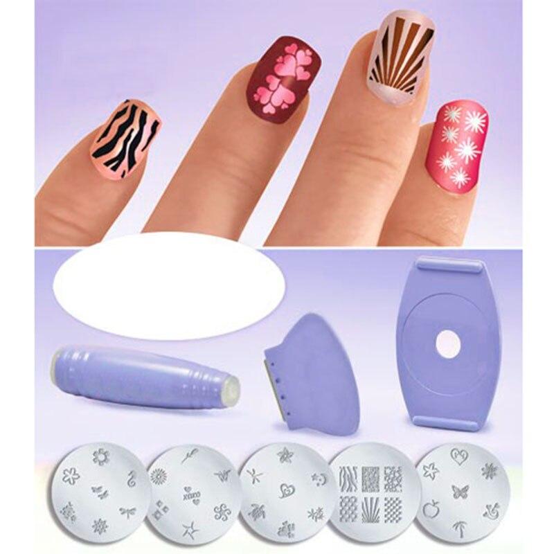 Salon Express Nail Art Stamping Kit For Manicure Nail Polish ...