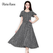 Women Vintage england style Print Dress Sexy Summer Fashion Print Top Dress Women Floral Print Shredded flower Dress with Belt