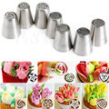 7pcs/Set Russian Tulip Icing Piping Nozzles Cake Decoration Decor Baking Tool