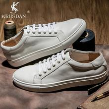 [Krusdan] 2017 Оригинальный Бренд Мужчины Мокасины Из Натуральной Кожи Повседневная Обувь Мужчины Квартиры Оксфорд Обувь Для Мужчин Вождения Обувь размер 38-44