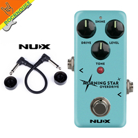 New NUX Morning Star NOD 3 Blues Overdrive Guitar Effects Pedal Tube Screamer Classic Blues Breaker True Bypass Free Shipping