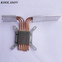KOOLASON DIY For HTPC Intel 115X 1155 Computer motherboard CPU heat pipe 6 Copper Handmade Components Fanless heatsink Radiator