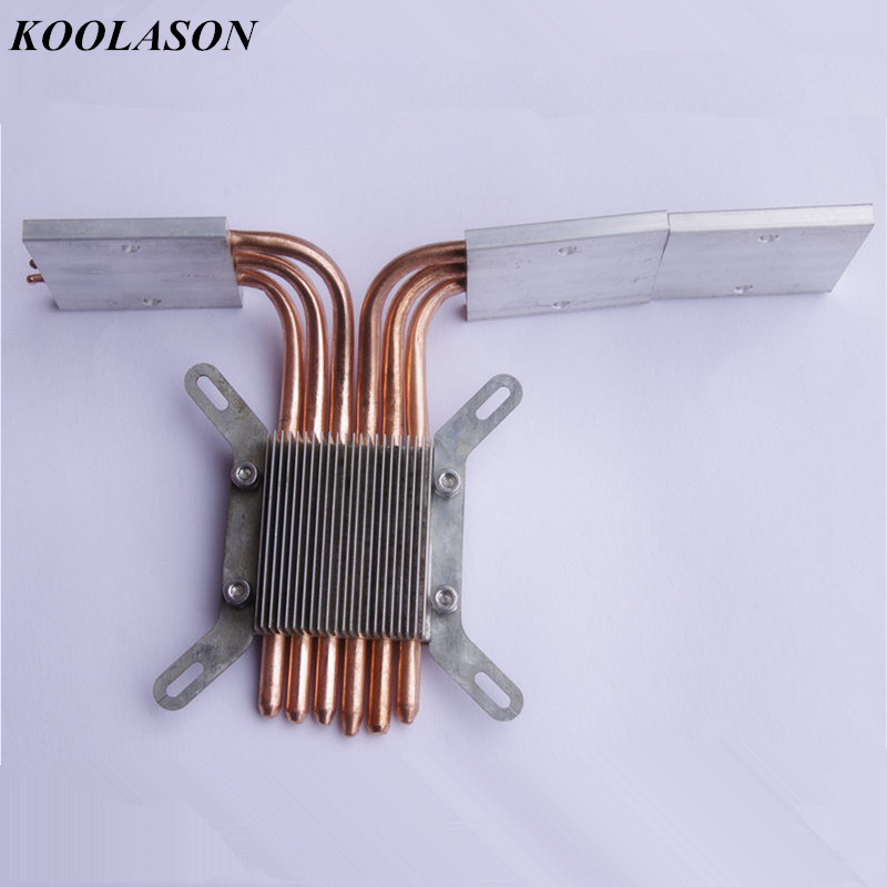 KOOLASON DIY For HTPC Intel 115X 1155 Computer motherboard CPU heat pipe 6 Copper Handmade Components Fanless heatsink RadiatorKOOLASON DIY For HTPC Intel 115X 1155 Computer motherboard CPU heat pipe 6 Copper Handmade Components Fanless heatsink Radiator