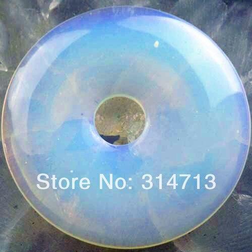 Opal Opalite Donut Pendant Bead 49x6mm SY743