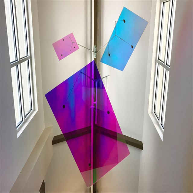 coloured window film vinyl dichroic colour changing selfadhesive rainbow colourful coloured window film 68cmx30m per roll self adhesive