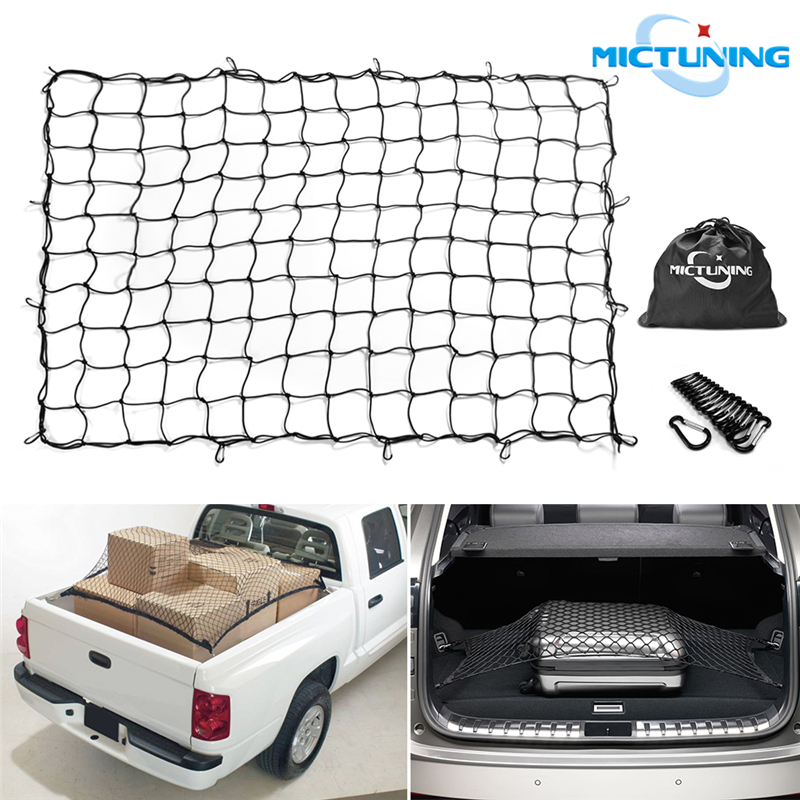 for SUV Bungee Net Stretches to 56 Elastic Nylon Mesh Universal Rear Car Organizer Net with 4 Hooks Youxmoto 41 x 25 Super Duty Cargo Net Truck Bed or Trunk