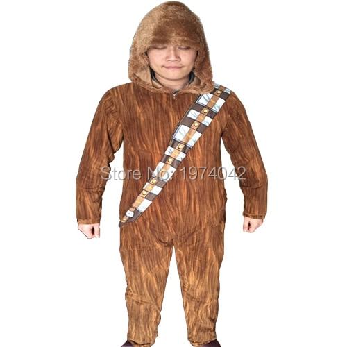 Adult Star Wars I Am Chewie Chewbacca Sleepwear Hoodie Pyjamas Furry