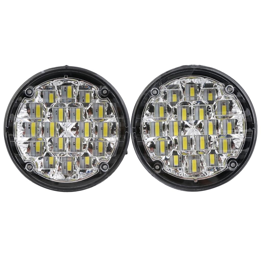 MagiDeal Car Bright Headlight 12V LED Round Spot Light Head Lamp Fog Light LED Round Front Headlight