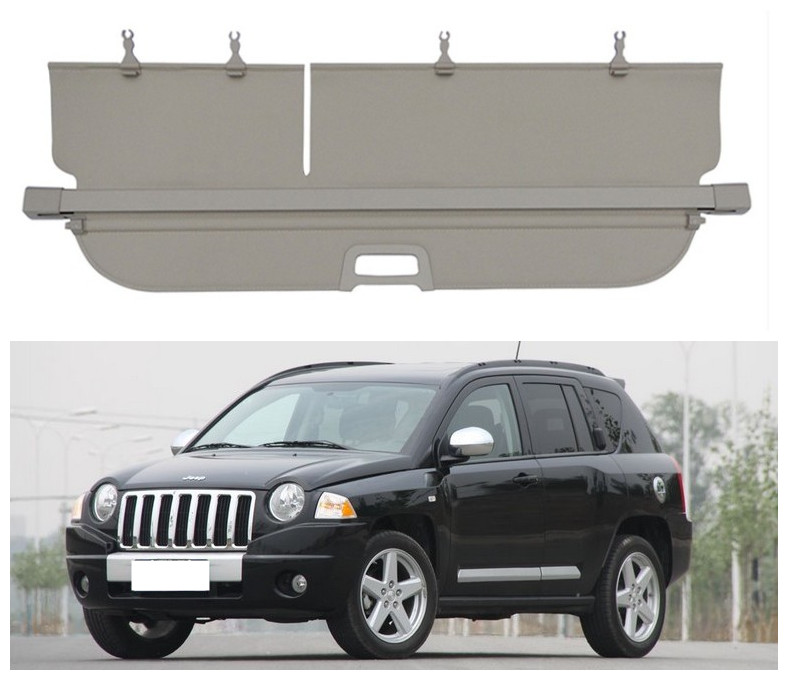 For Jeep Compass 2007 2008 2009 2010 2011 Rear Trunk Cargo Cover Security Shield Screen Shade High Qualit Car Accessories