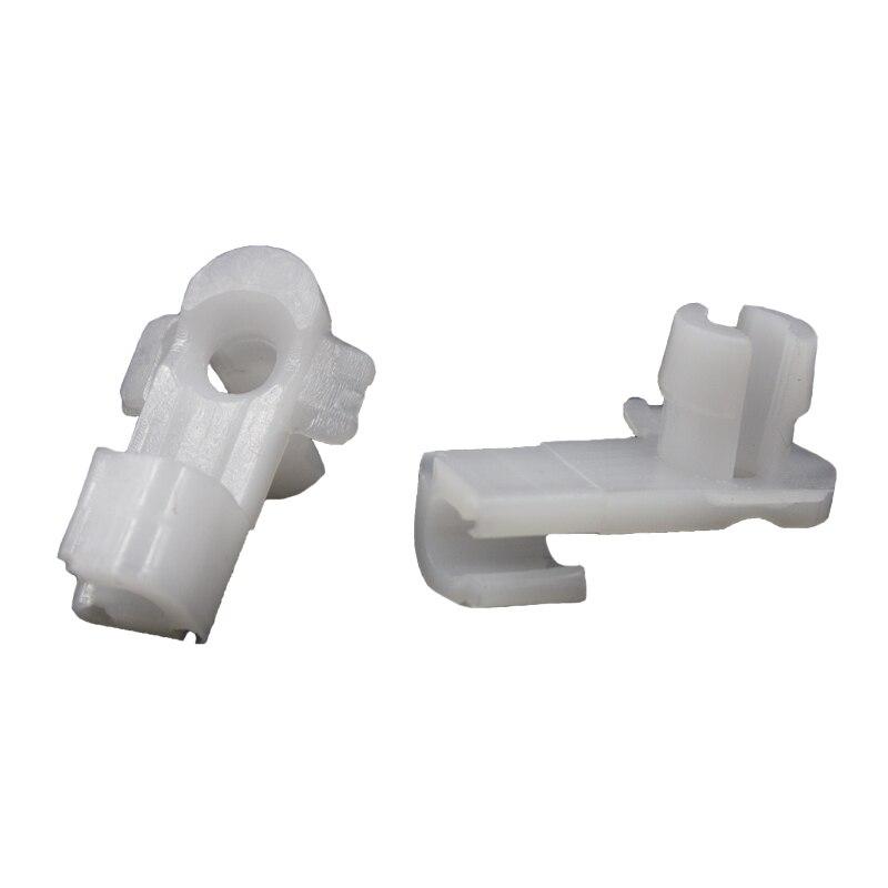 KE LI MI Auto Car Door Lock Rod Clip Fasteners White Nylon in Auto Fastener Clip from Automobiles Motorcycles