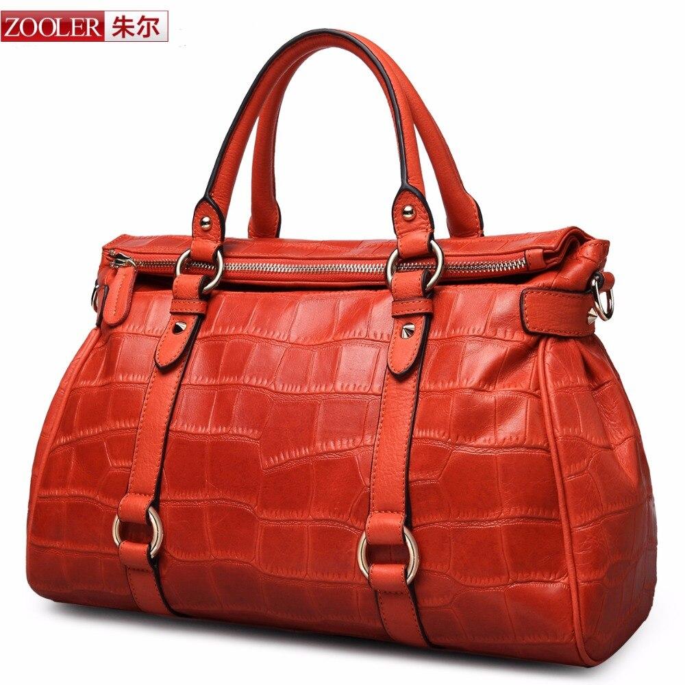 ZOOLER genuine leather font b Bag b font Ladies Luxury woman font b bags b font