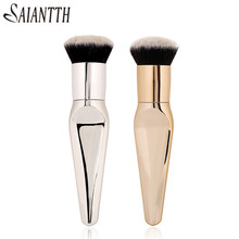 SAIANTTH Dense blush professional concealer brush large long Aluminum tube professional face makeup tool maquiagem 18cm beauty