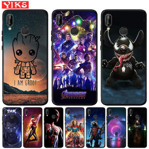 Cute Groot Stitch Marvel Avengers Starry Sky For Huawei Mate 20 10 P30 P20 P10 P9 P8 Lite Pro 2017 P Smart 2019 Cover Case(China)
