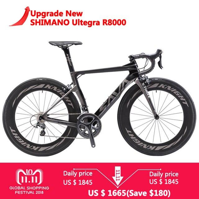 Сава 700C дорожный мотоцикл T800 дороги углерода гоночный велосипед велосипеды углеродного велосипед SHIMANO Ultegra R8000 22 Скорость Bicicleta 88 мм 25C шин