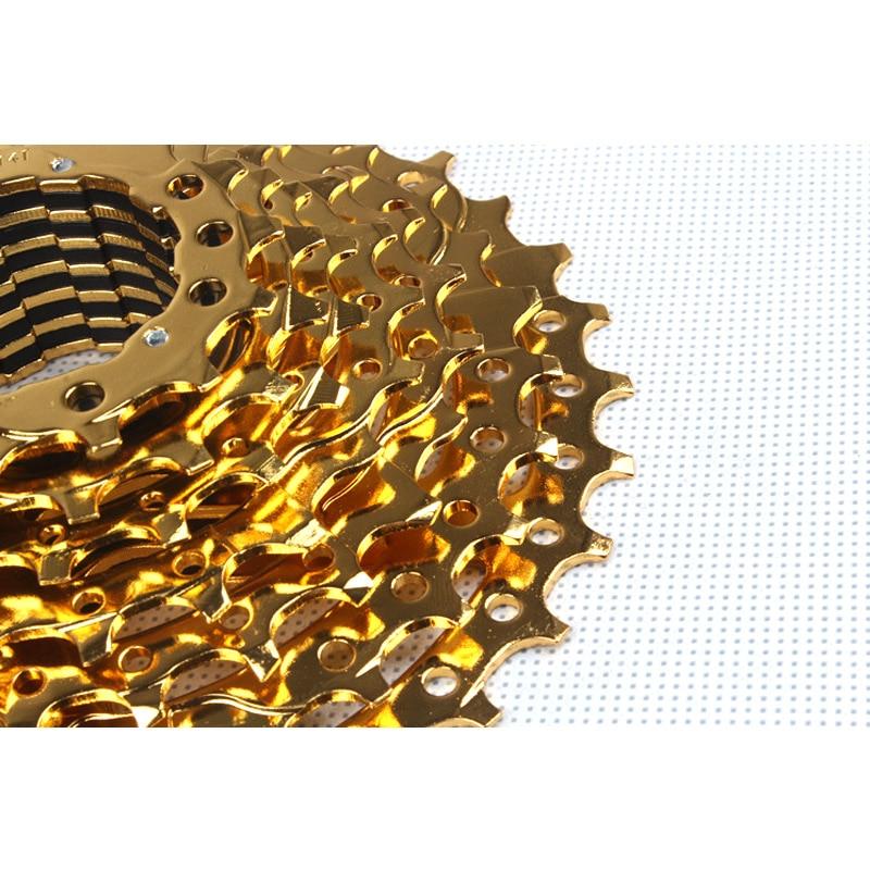 ФОТО MTB Mountain Bike Bicycle 9S Cassette Freewheel 9 Speeds Flywheel 11-12-14-16-18-21-24-28-32T Teeth Crankset Bicycle Parts 330g