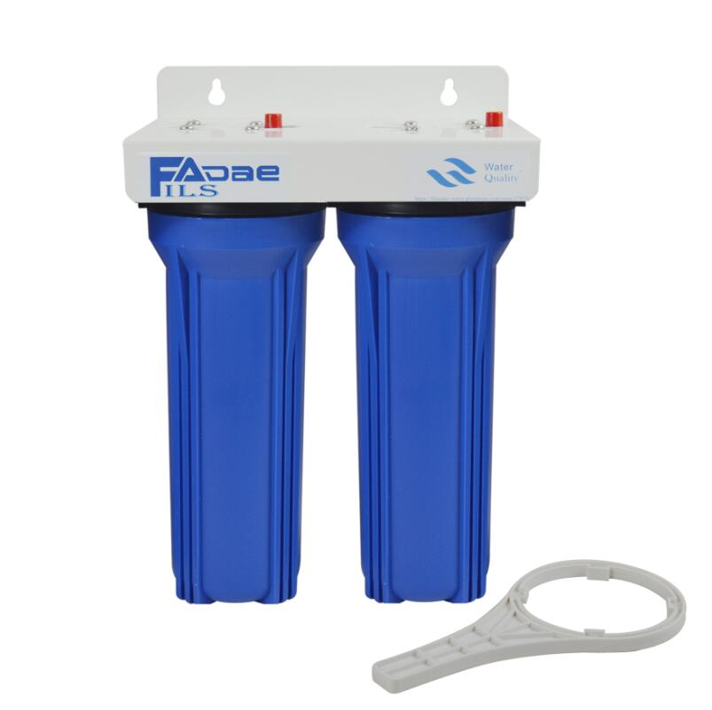 2 STAGE WHOLE HOUSE WATER FILTER BLUE 3 BY 4 SHORTEN