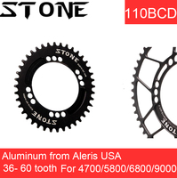 Stone Chainring 110 BCD Oval for Shimano 5800 6800 4700 36t 38 40 42 46 48 50 56 60T Aero Road Bike Bicycle Tooth Plate 110bcd