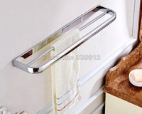 Wall Mounted Bathroom Accessory Towel Rack Holder Double Bars Polished Chrome Brass Finish Wba832